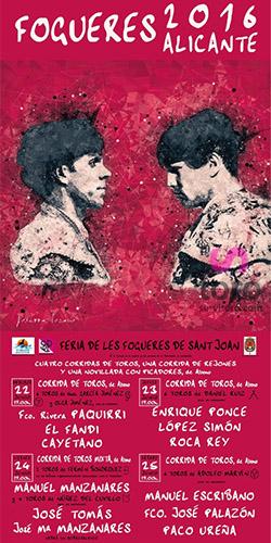 cartel jose tomas en Alicante 2016